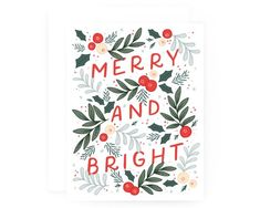 and Bright Christmas Cards Set of 8 Modern Illustrated Holiday Card Set Inspiration Weihnachten Merry and Bright Christmas Cards Set of 8 Modern Illustrated Holiday Ca.