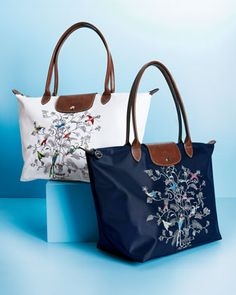 "Longchamp ""Tree of Life Le Pliage"" Duffel & Tote by Longchamp at Neiman Marcus."
