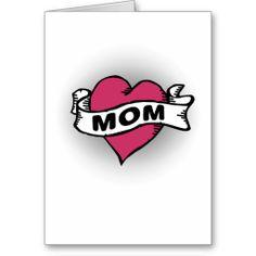 Shop Mom Tattoo Card created by mumgear. Mom Tattoo Designs, Card Tattoo, Mother's Day Greeting Cards, Mom Tattoos, Mothers, Rock, Skirt, Locks, The Rock