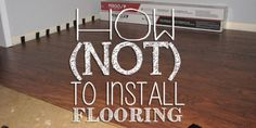 """Pin this to your Home Improvement board! """"oh, it's so easy!"""" That is what I heard over and over about installing laminate flooring. I guess if you were the average person it would… Installing Laminate Flooring, Diy Flooring, Flooring Ideas, Wood Laminate, Pergo Laminate Flooring, Amtico Flooring, Flooring Types, Inexpensive Flooring, Ceramic Flooring"""