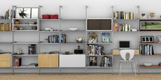 I like the simplicity of this for like a office / workspace. Ikea Closet Shelves, Ikea Closet System, Apartment Closet Organization, Closet Organizer With Drawers, Home Office Storage, Storage Room, Small Closet Design, Master Closet Design, Closet Designs