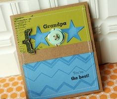 Love this masculine card....could EASILY be adapted for fathers day too :)