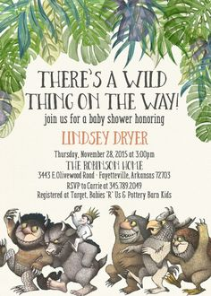 Where The Wild Things Are invitation template Wwwluckybean33