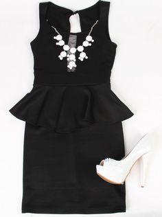 Deb Shops #black and #white trend - the #peplum