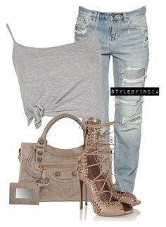 Untitled #1637 by iysmnx on Polyvore featuring polyvore, fashion, style, Boohoo, Balenciaga, Alaïa and clothing
