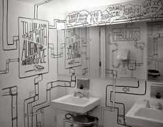 Black and white bathroom...my inspiration for my basement bathroom.