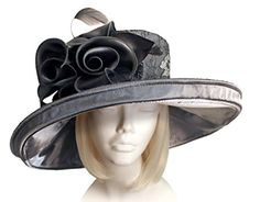 Mr. Song Millinery All-Season Large Brim Lace Hat With Floral Accent - 471001 - Brought to you by Avarsha.com