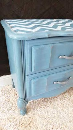 French Style Nightstand Redo - Before and after pictures.  Lots of other furniture makeovers here also