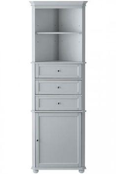 New Tall Corner Cabinet White