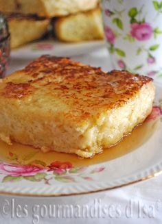 Pain perdu, le meilleur Ww Desserts, Dessert Recipes, Paninis, Tunisian Food, Flan Cake, Classic French Dishes, Icebox Cake, Food To Go, Pancakes And Waffles