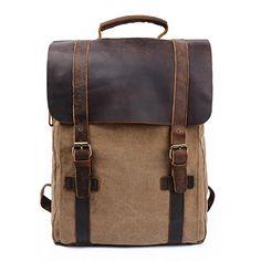 S-ZONE Unisex Vintage Canvas Genuine Leather Travel School Bags 15.6 Laptop Backpack Rucksack Daypack S-ZONE http://www.amazon.co.uk/dp/B00N2RBTGM/ref=cm_sw_r_pi_dp_CBWkvb01PPWC0