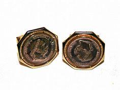 Vintage Manschettenknöpfe - Antike Münzen Vintage Manschettenknöpfe Münze - ein Designerstück von Mont_Klamott bei DaWanda