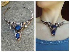 Copper wire fantasy necklace by TangledWorld on @DeviantArt