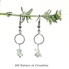 Clear crystal earrings bohemian boho chic by DSNatureetCreation