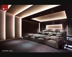 Exquisite New Media Room featuring CINEAK Strato Seats. modern media room