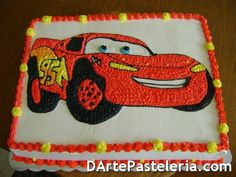 Pastel Rayo Mcqueen Cake Ideas and Designs Lighting Mcqueen Cake, Cars Birthday Parties, Birthday Cakes, 3rd Birthday, Pastel Cakes, Cake Delivery, Superhero Cake, Lightning Mcqueen, Cute Cars