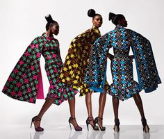 Africa Fashion Guide:  Viva Vlisco - wax print  Loving the silhouettes!