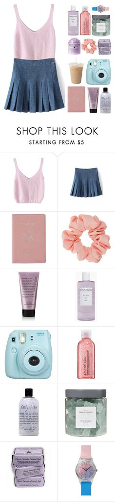 """""""I'm Bad at Titles"""" by galactictraveler ❤ liked on Polyvore featuring WithChic, Royce Leather, Miss Selfridge, philosophy, Sachajuan, Fujifilm, Avon, Threshold and May28th"""