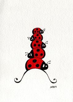 Stockpile of lady bugs