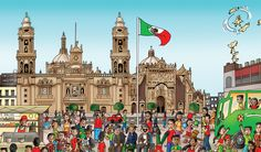 "Mexico page of ""Find the Cutes - Around the World"" (look us up on Amazon or go to www.findthecutes.com)"