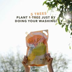 For the month of August Happi Earth are planting 5 trees for every purchase! Eucalyptus Essential Oil, Orange Essential Oil, Plastic Waste, Laundry Detergent, Plastic Bottles, Trees To Plant, Whitening, Planting, Organic