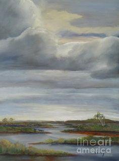 'Salt Marsh Storm II' by Sally Simon