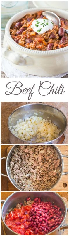 Looks easy :) : Don't miss my Easy Ground Beef Chili recipe! It's perfect fall comfort food for a weeknight family meal, or for your Tailgate party! | low carb | gluten free | dairy free |