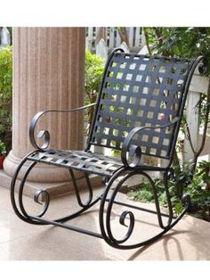 Patio Rocking Chairs - Pin it :-) Follow us, CLICK IMAGE TWICE for Pricing and Info . SEE A LARGER SELECTION of patio rocking chairs at http://zpatiofurniture.com/category/patio-furniture-categories/patio-chair/patio-rocking-chairs/ - home, patio, furniture, outdoor furniture, gift ideas , housewarming gift ideas -International Caravan Scroll Wrought Iron Outdoor Rocker « zPatioFurniture.com