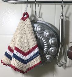Love Crochet, Crochet Motif, Diy Crochet, Crochet Hats, Crochet Ideas, Crochet Potholders, Doilies, Pot Holders, Crochet Projects