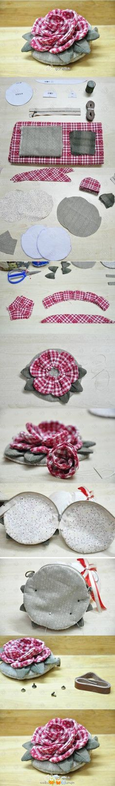 rose purse....(oh my goodness!... This purse is so cute!....and the picture tutorial is so inspiring!...