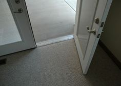 Low threshold front door and lever handles. I love my lever handles... so much easier on the hands ~!~