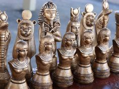 Egyptian Chess set, Customisable Colours(Pieces only/Board Not inluded)