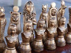 NEWEgyptian Chess set Customisable by WinkingBlindBats on Etsy