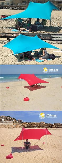 Canopies and Shelters 179011: Lightweight Sun Shade Protection Beach Shelters Tent Canopy With Sandbag Anchors -> BUY IT NOW ONLY: $79.99 on eBay!