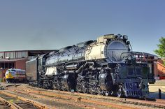 Big Boy Union Pacific's Big Boy 4-8-8-4 sits silent at Steamtown National Park…