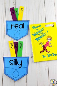 This printable Wocket Pocket Real & Nonsense Word Sort is a great addition to your Dr. Seuss Unit and can be added to your morning baskets or choice tubs. Name Activities Preschool, Writing Center Preschool, Writing Activities, Silly Words, Nonsense Words, Head Start Classroom, Kindergarten Classroom, Made Up Words, Kids Activity Books
