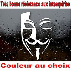 Sticker-autocollant-anonymous-vendetta-pour-DECO-voiture-moto-maison-ipad Vendetta, Anonymous, Ipad, Stickers, Movie Posters, Art, Sticker, Home, Art Background