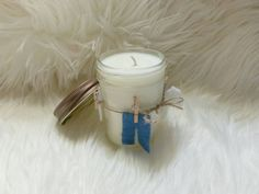 Jelly Jar Scented Soy Wax Candle/Laundry by TeaLightedTeacups