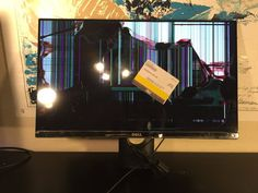 """Dell S2316M IPS LED Backlit HD Computer Monitor 23"""" 1920 x 1080 - CRACKED SCREEN"""