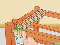 How to Weave Rope Seats (with Pictures) - wikiHow Diy Wood Projects, Furniture Projects, Furniture Makeover, Woodworking Projects, Diy Furniture, Furniture Design, Chair Repair, Macrame Chairs, Woven Chair