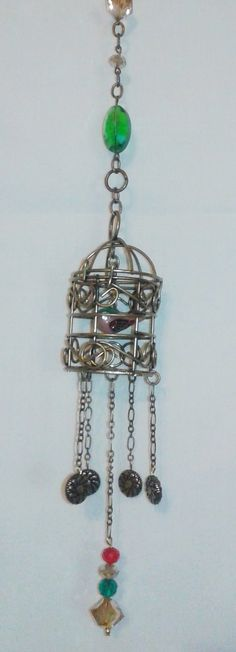 Handmade Mini Bird Cage Window Suncatcher