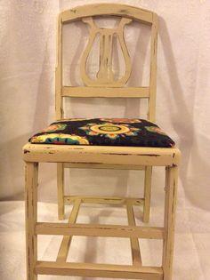 Rare Folding Belle Harp Chair in Yellow por VictorianRehabDesign, $120.00