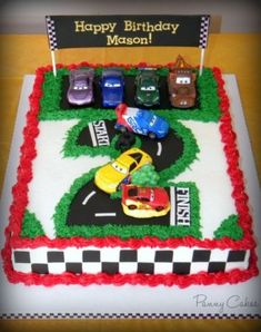 The Cars Birthday Cake Ideas - Share this image!Save these the cars birthday cake ideas for later by share this image, and Race Car Birthday, Disney Cars Birthday, Birthday Fun, Birthday Cakes, Fruit Birthday, Birthday Ideas, 2nd Birthday Cake Boy, Disney Cars Cake, Car Themed Parties