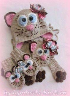 ideas crochet cat scarf baby hats for 2019 Bonnet Crochet, Crochet Poncho, Crochet Beanie, Crochet Animal Hats, Crochet Braids For Kids, Knitting For Kids, Baby Knitting, Knitting Ideas, Crochet Baby Boots