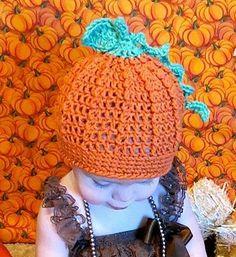 Little Pumpkin harvest crochet hat by NikaJacks on Etsy