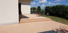 Steinteppich auf Terrasse Sidewalk, Patio, Stairway, Stones, Lawn And Garden, Side Walkway, Walkway, Walkways, Pavement