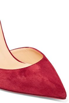Christian Louboutin - Uptown 100 Suede Pumps - Claret - IT41.5