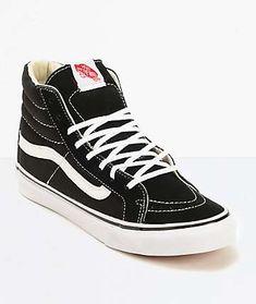 a15a613571 Vans Sk8-Hi Slim Black   True White Shoes