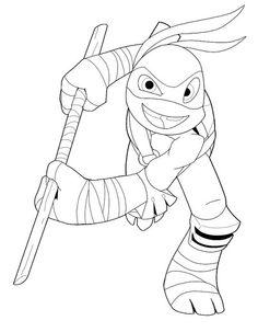 ninja turtles coloring pages michelangelo buonarroti   Ninja Turtles Michelangelo Coloring Pages   Teenage Mutant ...