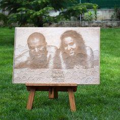 """Este """"grabado de fotos de deseos"""" es un libro de firmas muy original que podrás colgar en las paredes de tu hogar."""